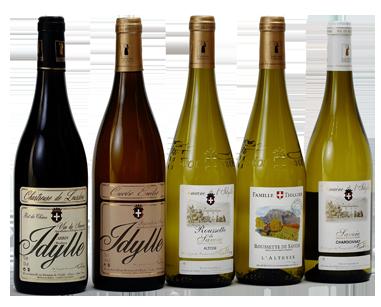 Gamme des vins du Domaine de l'Idylle